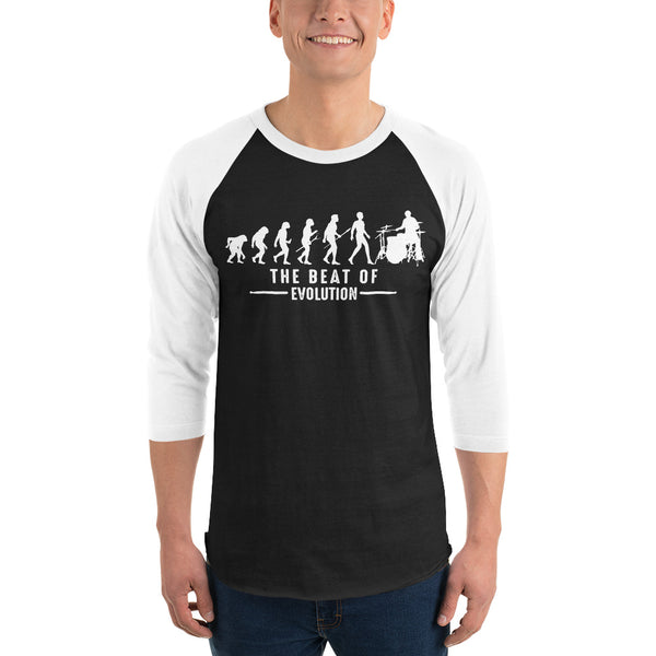 3/4 Sleeve The Beat Of Evolution Raglan Shirt 5 Colors