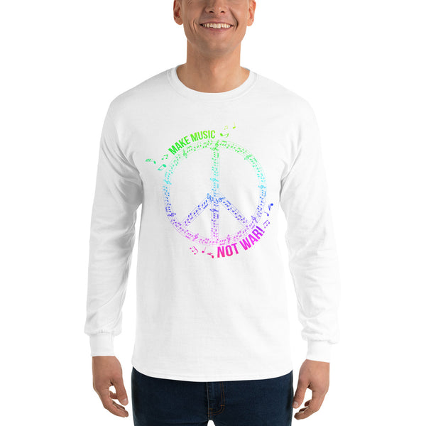 Long Sleeve Music Not War Shirt 13 Colors
