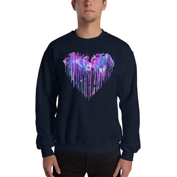 Colorful Fishing Heart Sweatshirt 10 Colors