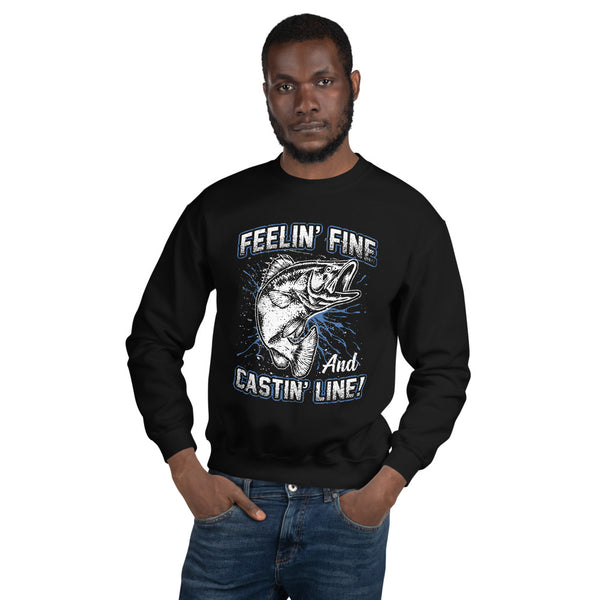Feelin Fine Castin Line And ECG Sweatshirt 9 Colors