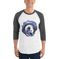 3/4 Sleeve Surfnaut Raglan Shirt 9 Colors