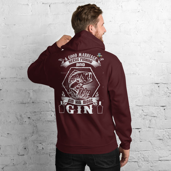 A Good Marriage Needs Fishing And Gin Hoodies 11 Colors
