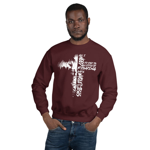 Fishing Cross Sweatshirt 10 Colors