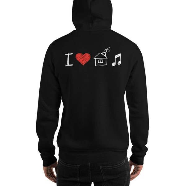 I Love House Music Hoodie 8 Colors