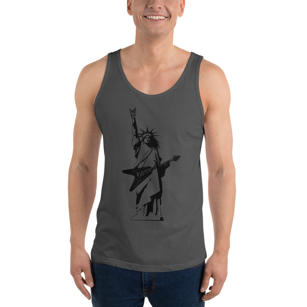 Statue of Liberty Playing Guitar Tank Top 7 Colors