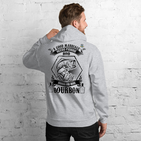 A Good Marriage Needs Fishing And Bourbon Hoodie 11 Colors