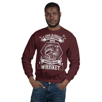A Good Marriage Needs Fishing And Whiskey Sweatshirt 10 Colors