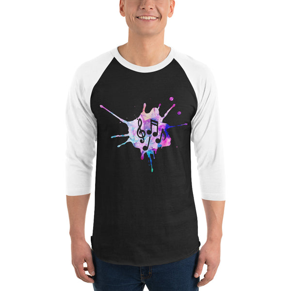 3/4 Sleeve Melon Music Raglan Shirt 6 Colors