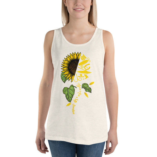 Fish Sunflower Tank Top 10 Colors