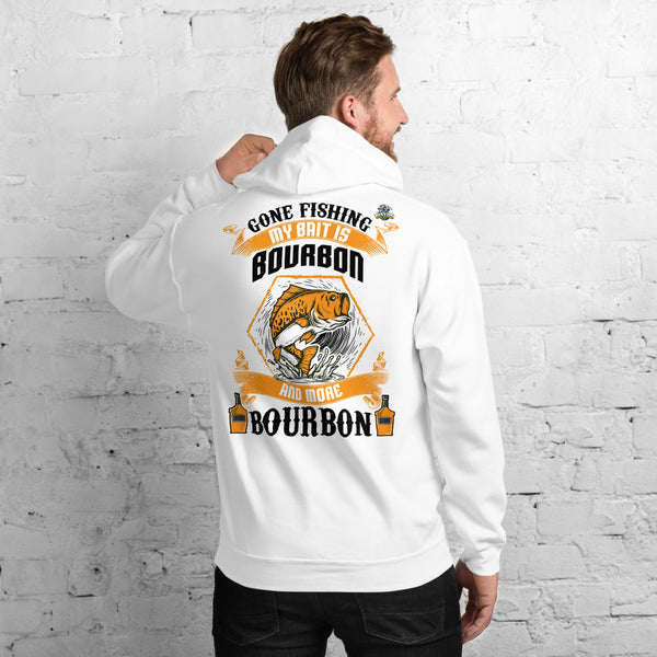 Gone Fishing My Bait Is Bourbon Hoodie 11 Colors