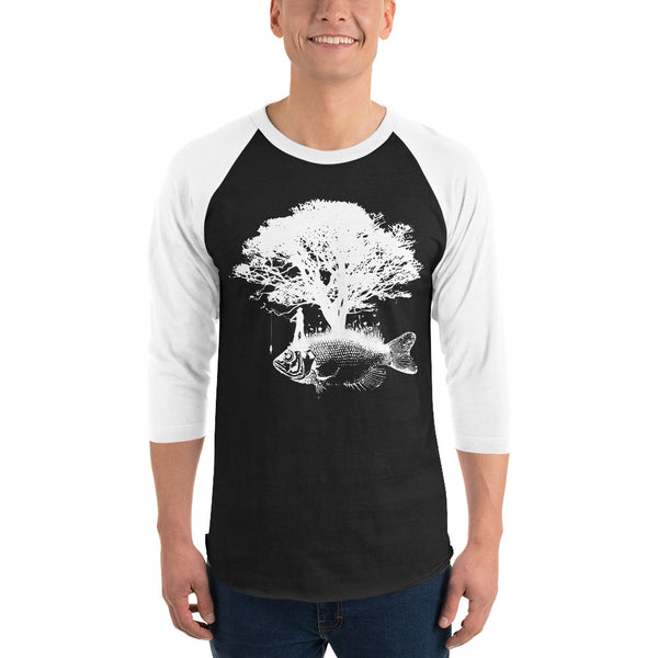3/4 Sleeve Tree Fish Raglan Shirt 5 Colors