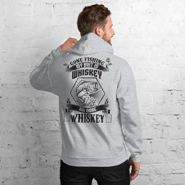 Gone Fishing My Bait Is Whiskey Hoodie 11 Colors
