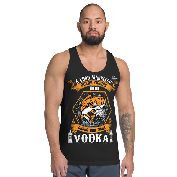 A Good Marriage Needs Fishing And Vodka Tank Top 5 Colors