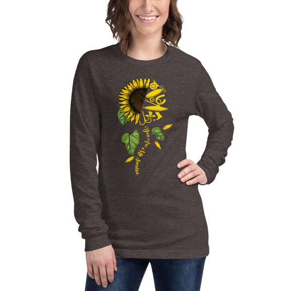 Unisex Long Sleeve Fish Sunflower T-Shirt 8 Colors