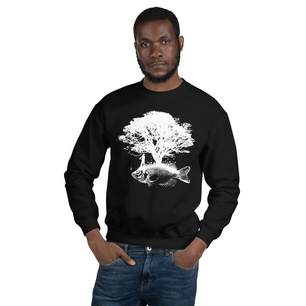 Front Tree Fish Back ECG Sweatshirt 9 Colors