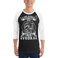 3/4 Sleeve A Good Marriage Needs Fishing And Vodka Raglan Shirt 9 Colors