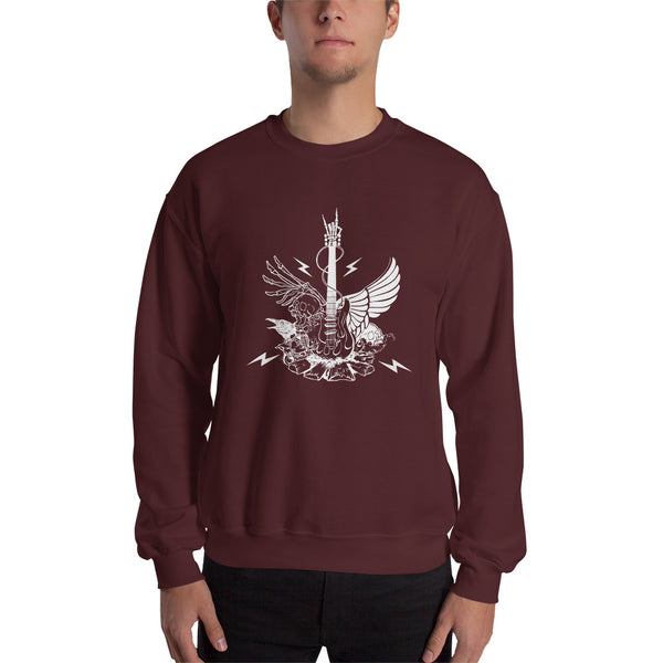 Winged Guitar Sweatshirt 9 Colors