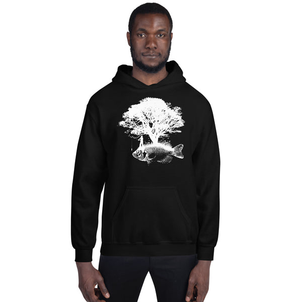 Front Tree Fish Back ECG  Hoodie 4 Colors