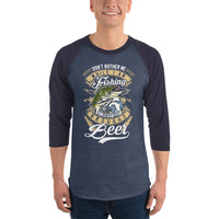 3/4 Sleeve Dont Bother Me Unless You Brought Beer Raglan Shirt 6 Colors