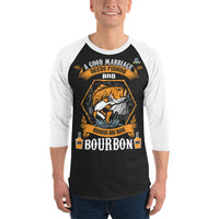 3/4 Sleeve A Good Marriage Needs Fishing And Bourbon T-Shirt 9 Colors