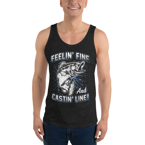 Feelin Fine Castin Line Tank Top 10 Colors