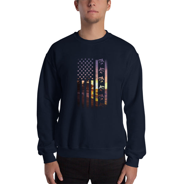Flag Fish Sweatshirt 11 Colors
