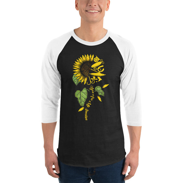 3/4 Sleeve Fish Sunflower Raglan Shirt 9 Colors