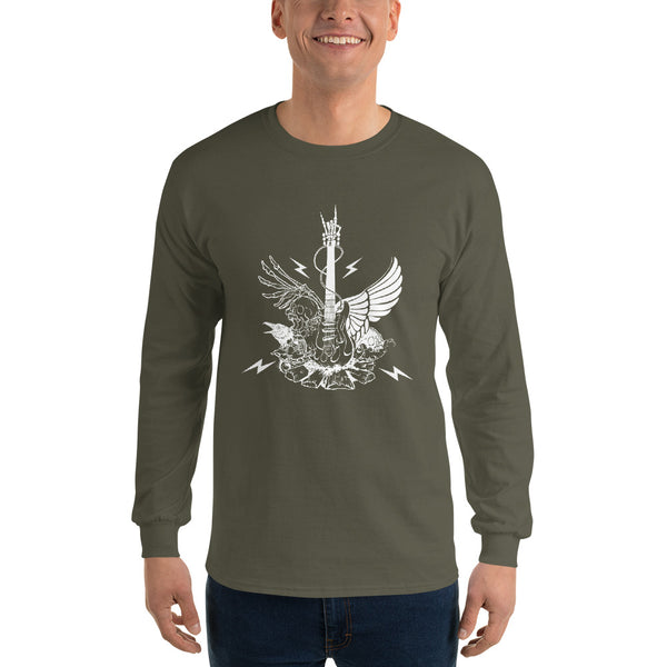 Long Sleeve Winged Guitar Shirt 12 Colors