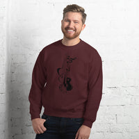 Black Guitar Sweatshirt 8 Colors