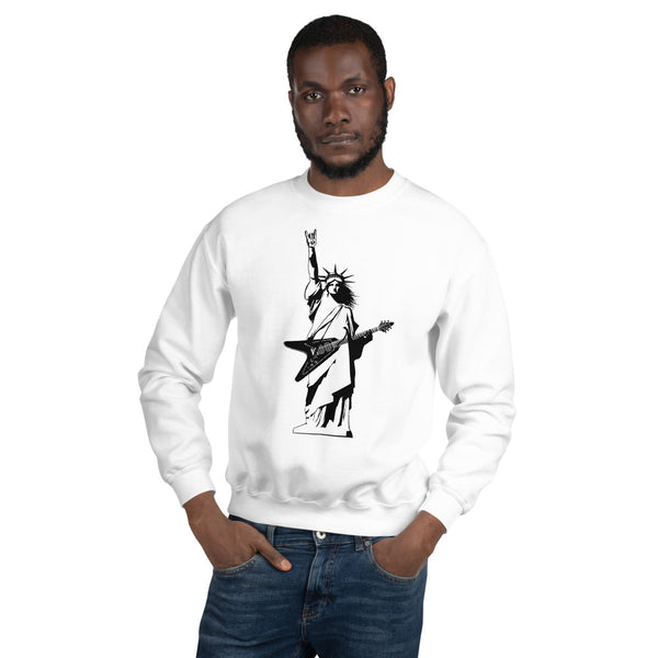 Statue of Liberty Playing Guitar Sweatshirt 8 Colors