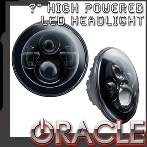 "ORACLE 7"" HIGH POWERED LED HEADLIGHTS (PAIR) - CHROME BEZEL"