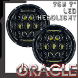 "ORACLE OFF-ROAD 75W 7"" CREE LED REPLACEMENT HEADLIGHTS (PAIR)"