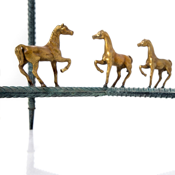 "Side table ""Parade"" with horses"