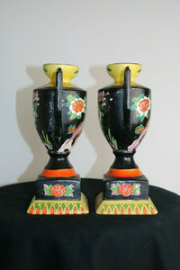 2 Hand Painted-TT JAPANESE VASES- Made In Japan- 1900 to 1940 export Condition | Pops Flea Market