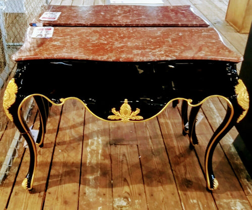 Jonathan Charles Monte Carlo collection brown marble top Console | Pops Flea Market