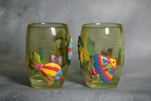 Load image into Gallery viewer, Lot of 2 Cups w/ fish designs Multicolor
