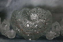 Load image into Gallery viewer, American Brilliant Cut Glass Crystal Complete Punch Bowl Set 18 Cups-Hobstars | Pops Flea Market