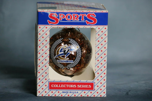 Vintage Sports Collector Glass Ball Christmas Ornament NBA WAS Wizard Basketball | Pops Flea Market