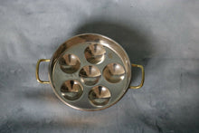 Load image into Gallery viewer, Vintage Round Copper Mold Brass Handles Egg Coddler Poacher 7"