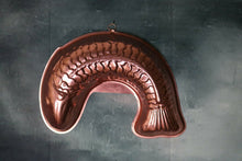 Load image into Gallery viewer, Vintage COPPER Metal Curved Fish Jello Mold with Wall Hanger LARGE SIZE