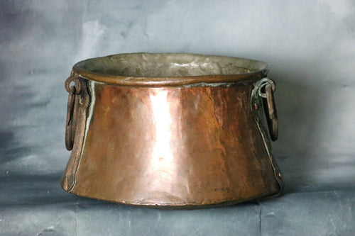ANTIQUE Copper Cauldron Apple Butter Pot 1800s Hand Forged Primitive | Pops Flea Market