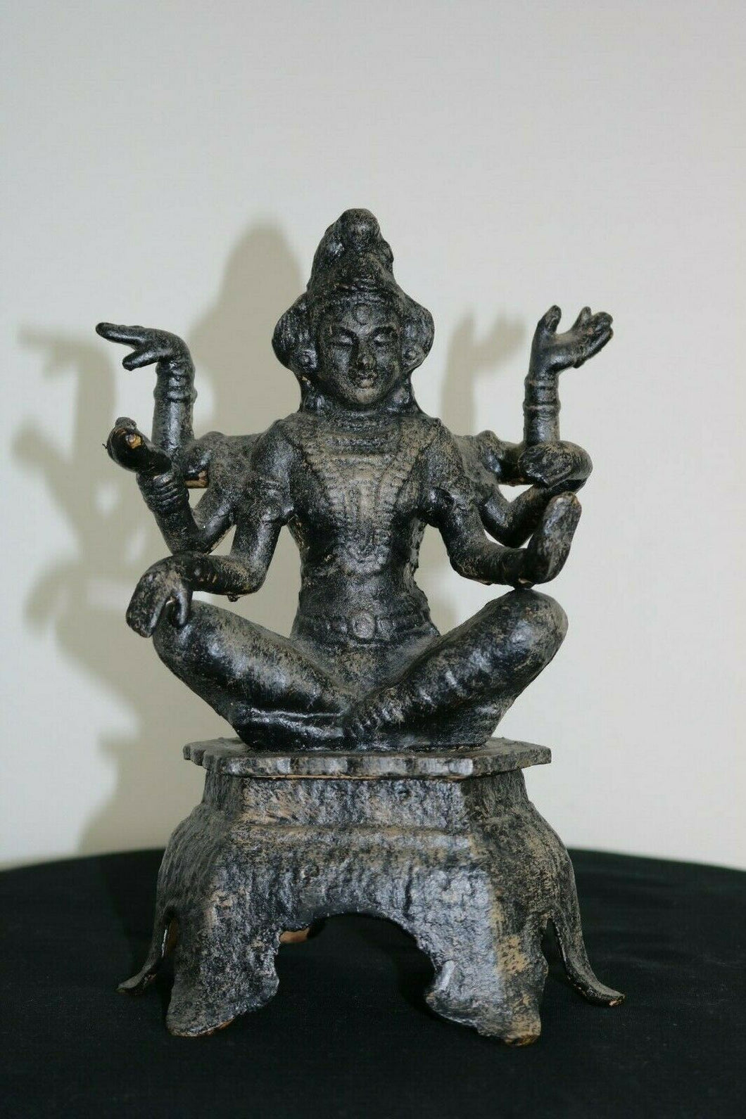 Antique Iron Kali Ma 6 Arm Buddha Figure - NEPAL Or TIBETAN | Pops Flea Market