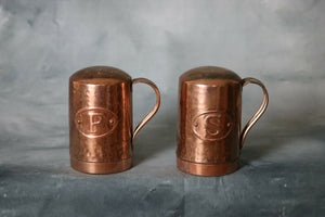 Salt & Pepper Shakers Copper And Brass Set | Pops Flea Market