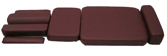 Full Set of Replacement Cushion Covers only with LEATHER UPGRADE