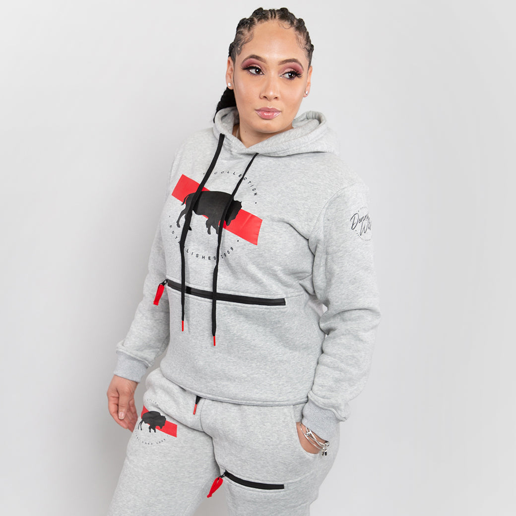 Hometown Passport Sweatsuit- Gray