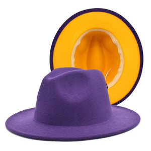 Purple w/Gold Bottom Fedora