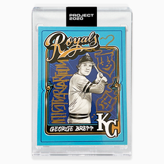 MAIL IN OPTION 4 - AP EDITION ONE - GEORGE BRETT AUTOGRAPHED BY MISTER CARTOON - LIMITED TO 25
