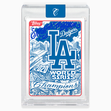 Load image into Gallery viewer, 2020 LA Dodgers World Series Card - Blue Autograph