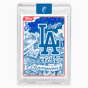 2020 LA Dodgers World Series Card - Blue Autograph