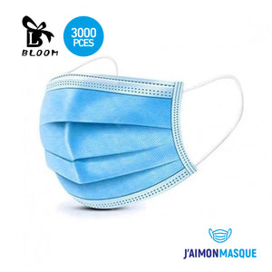 Masque de protection jetable Type I conforme norme EN 14683:2019 (x3000)